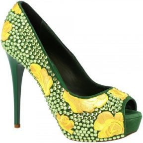 Γόβες Leonardo Shoes G5SI93 STRASS VERDE